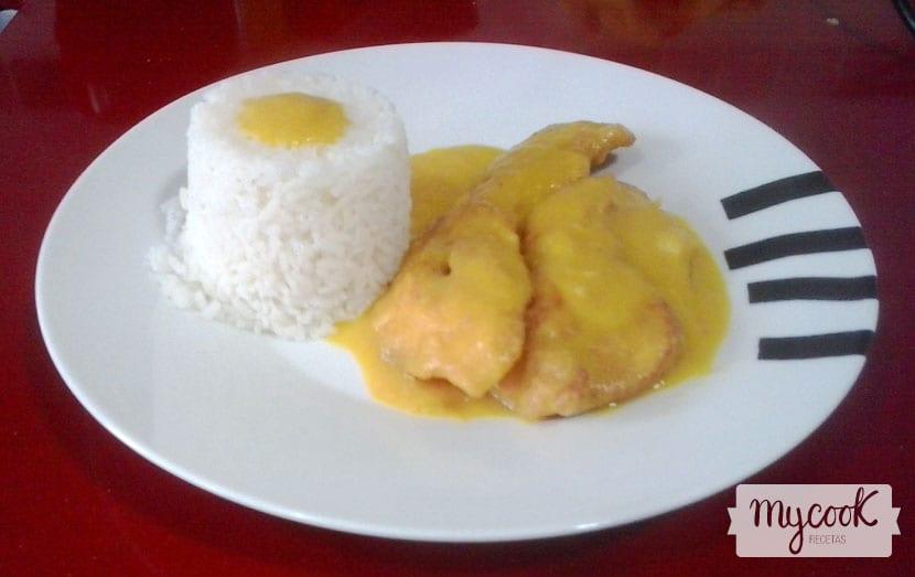 Pechuga de pollo a la naranja con Mycook