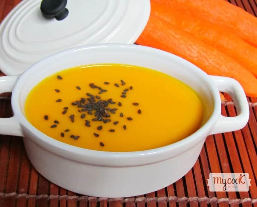 Crema de zanahoria en Mycook