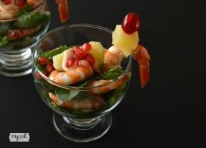 Cóctel de gambas con salsa americana