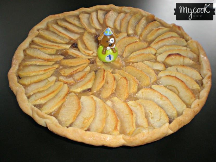 Tarta de manzana para alérgicos