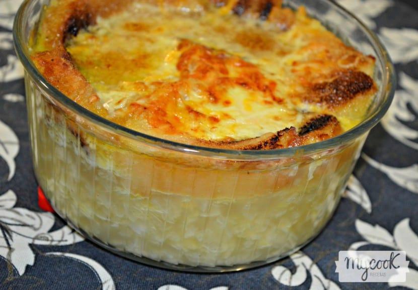 Sopa de cebolla y queso