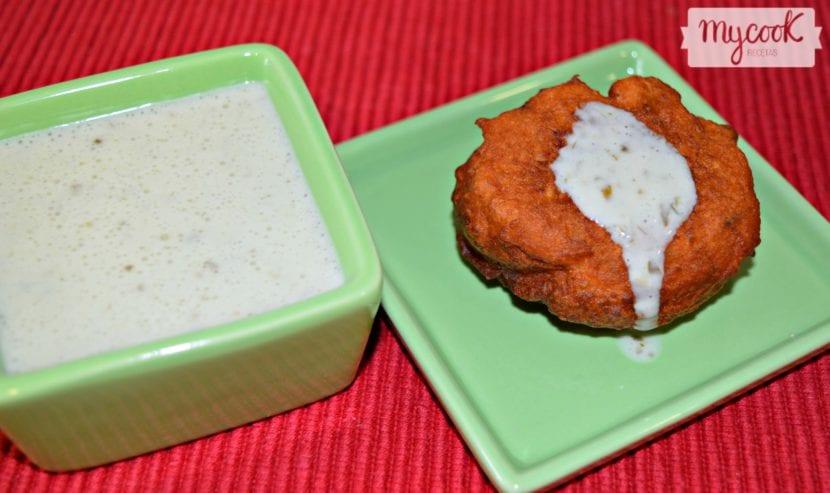 Salsa de yogur y cilantro