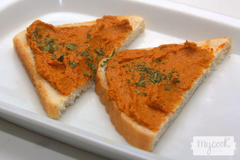 Dip ahumado de zanahoria y berenjena