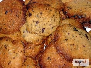 Cookies veganas con chocolate