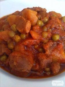 Estofado de soja con patatas