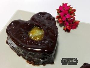 corazones de chocolate y naranja
