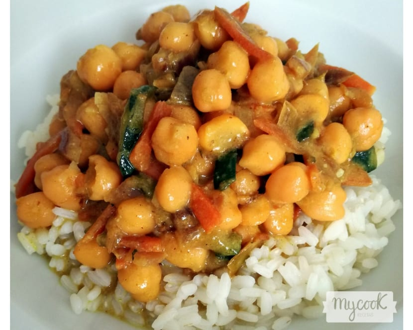 curry de garbanzos y verduras