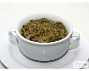 Gratén de champiñones y espinacas