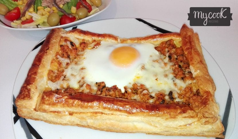 Hojaldre de carne picada y huevo elaborado con mycook - Que cocinar con carne picada ...