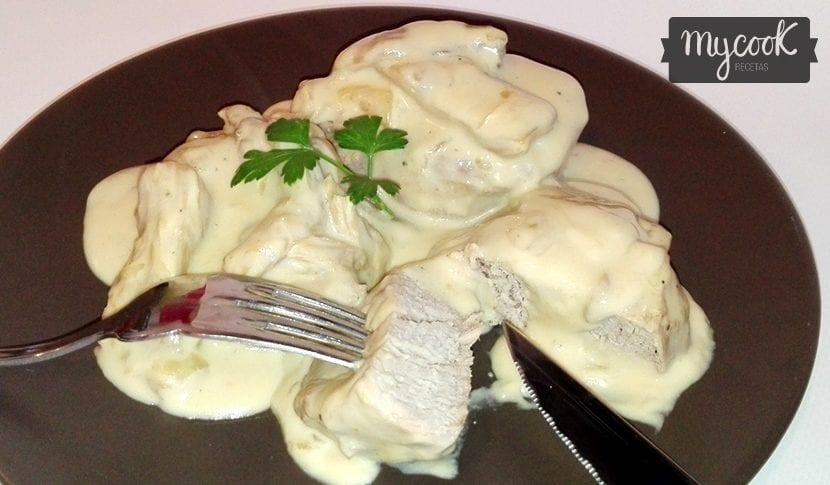 solomillo de cerdo con salsa de setas