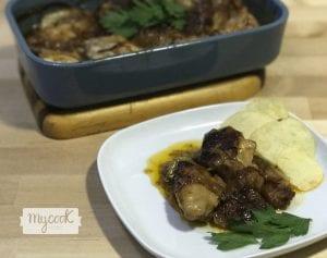 Alitas de pollo con salsa barbacoa y miel