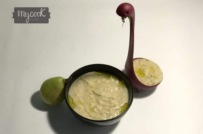 crema de puerros y peras