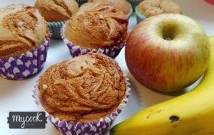 muffins de manzana y platano