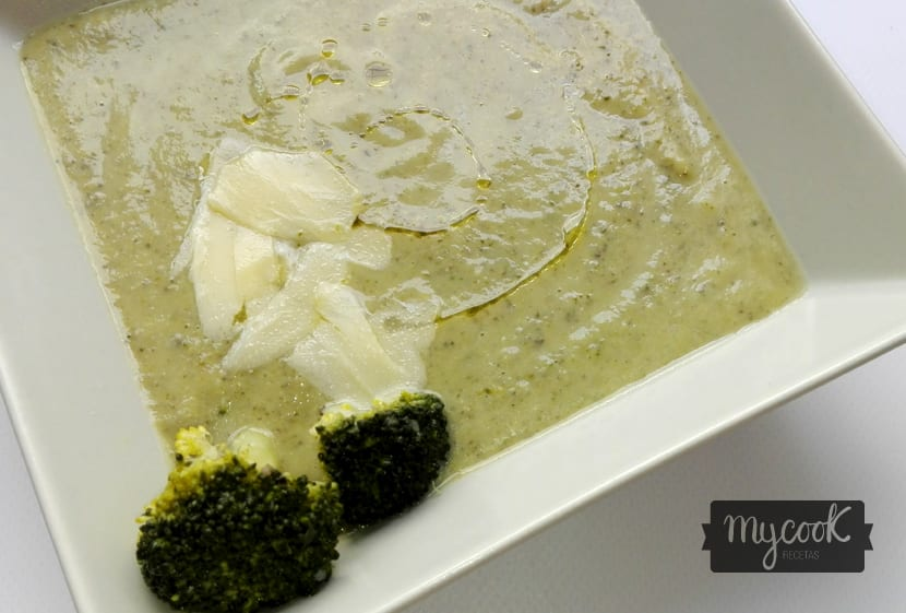 crema de brócoli y champiñones