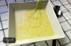 crema de calabacin patata y puerro