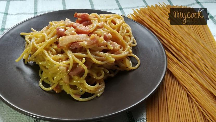 salsa carbonara sin nata