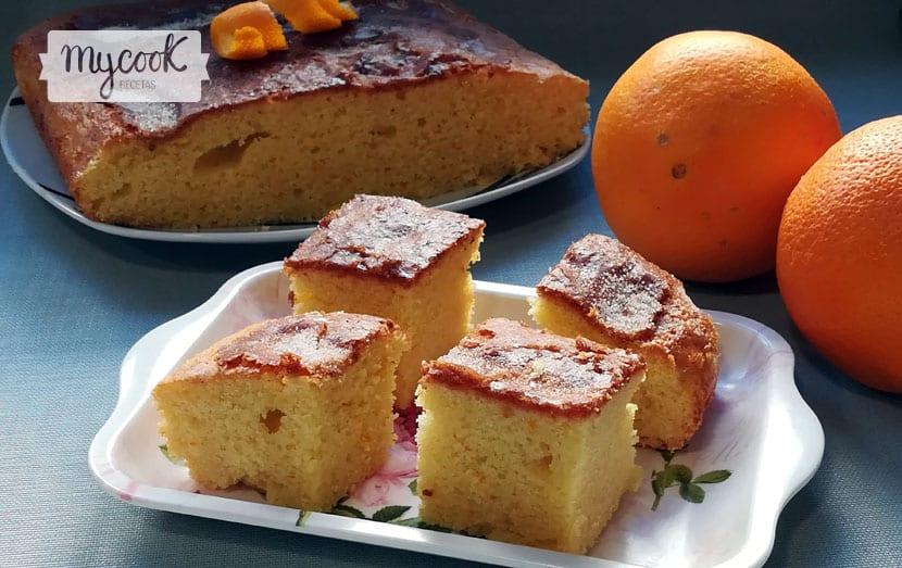 coca de llanda de naranja