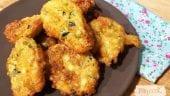 buñuelos de calabacín y queso