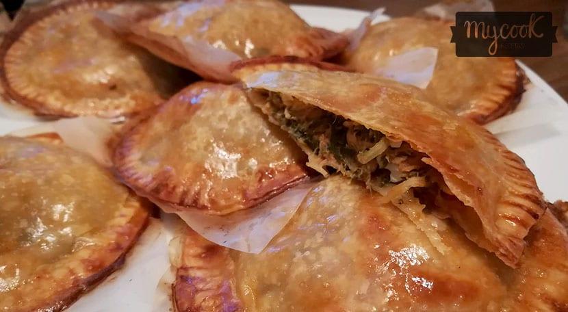 empanadillas de atun, acelgas y huevo