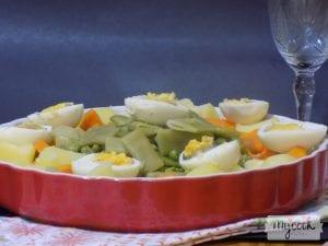 Receta de verduras con huevo y sofrito de cebolla al vaporal vapor