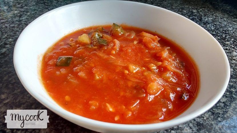 Pisto de calabacín con tomate