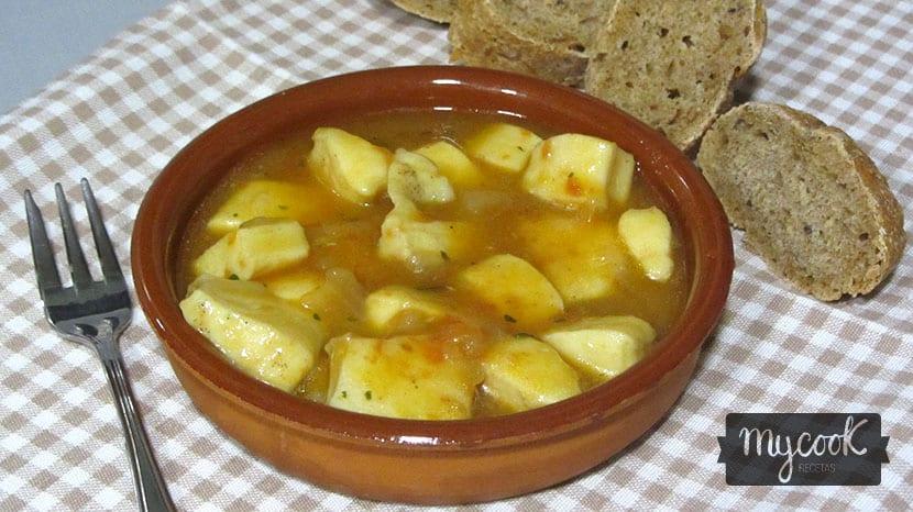 poton en salsa al ron