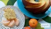 bizcocho de mandarina, yogur y chia