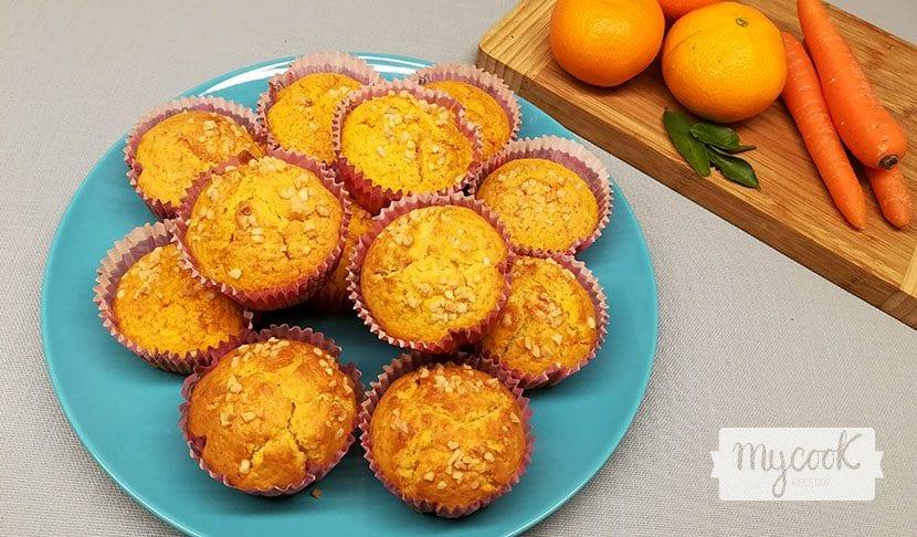 muffins de zanahoria y mandarina
