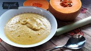 crema de calabaza y brocoli al curry
