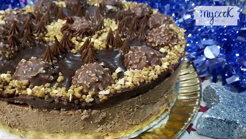 tarta de ferrero y crema de chocolate