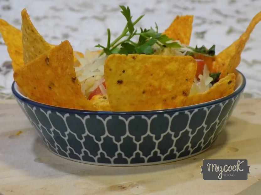 nachos con chile de carne con Mycook