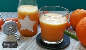 zumo detox de naranja y zanahoria