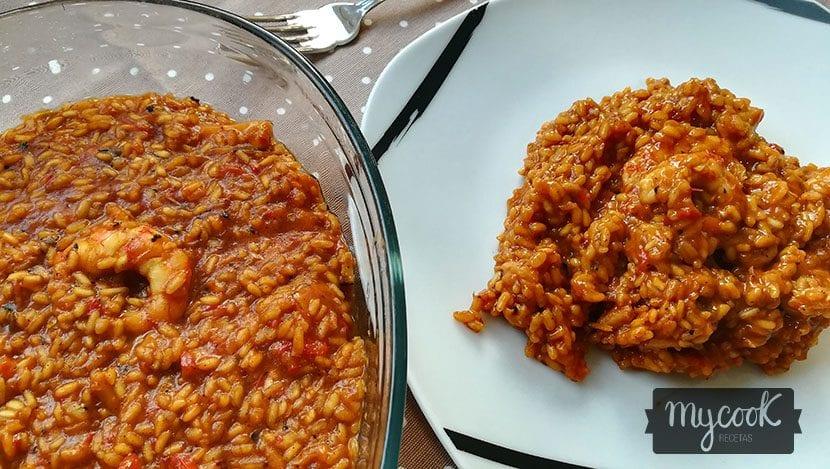 arroz con sepia y gambones