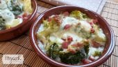 brocoli gratinado con salsa de queso