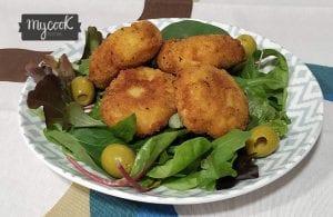 nuggets de bacalao y langostinos