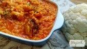 arroz con coliflor y pollo