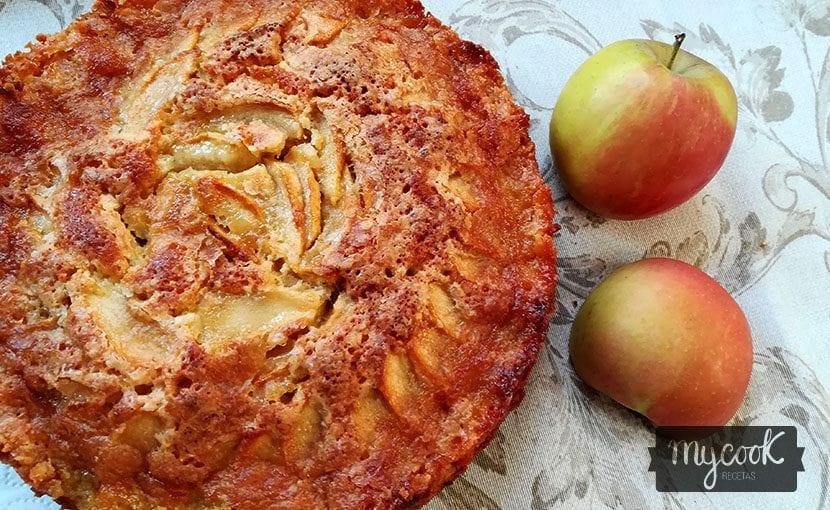 bizcocho de manzana de normandia