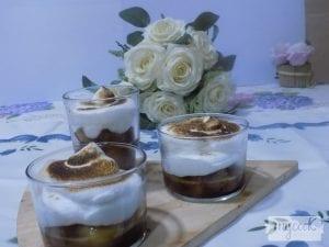Compota de manzana con crema con Mycook