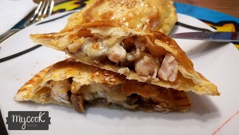 empanadillas de pollo y champiñones