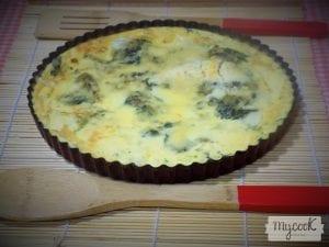 Fritatta de queso ricotta ,champiñones y espinacas baby con Mycook