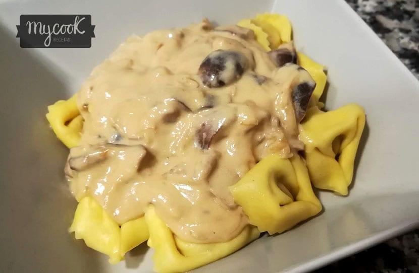 salsa de setas shiitake para pasta