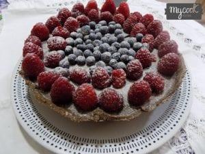tarta ligera de chocolate y frambuesas con Mycook