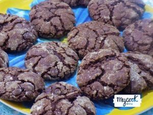 Galletas craqueladas de chocolate con Mycook