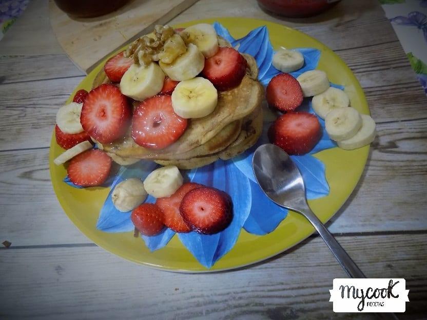 Pancakes veganos con Mycook