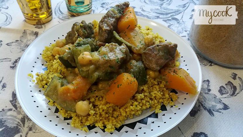 cous cous con ternera y verduras