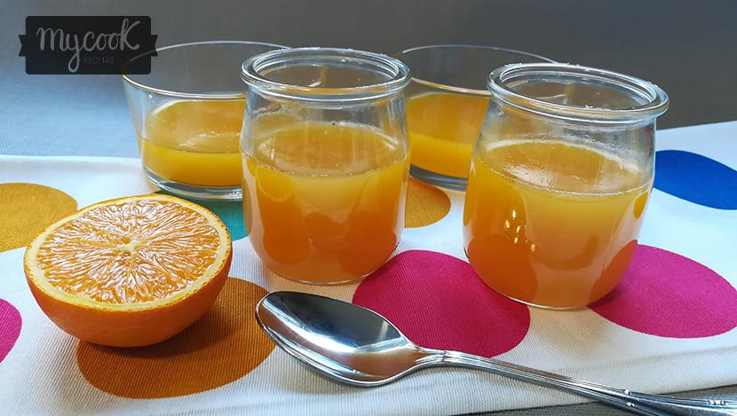 gelatina de zumo de naranja