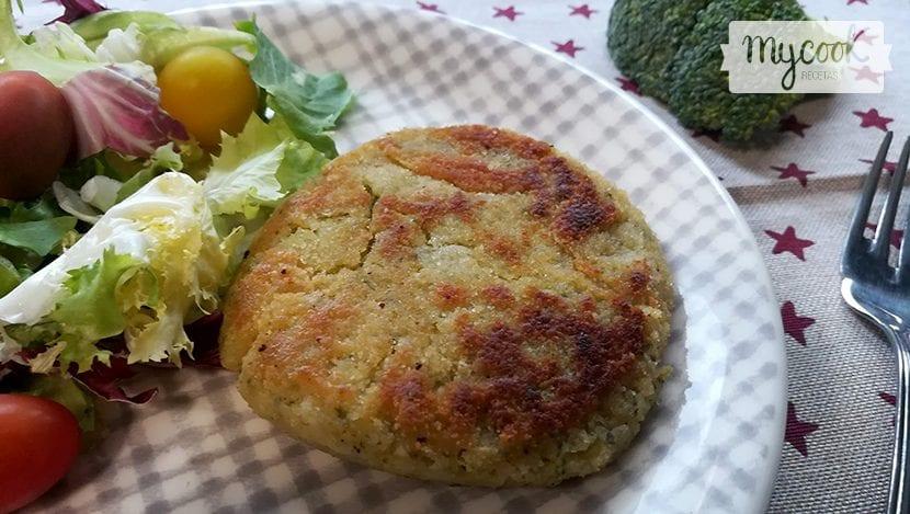 hamburguesas de quinoa y brócoli