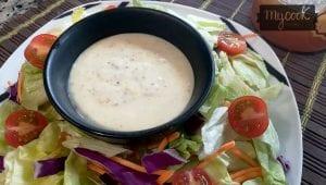 salsa de miel, mostaza y yogur