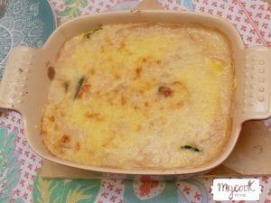 canelones de calabacín rellenos de jamón y queso con Mycook