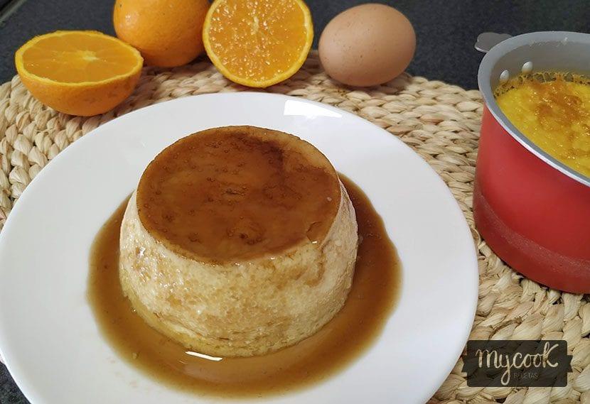 flan de huevo a la naranja